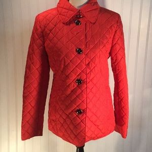 Quilted Red Jacket M NWOT